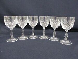 6 Crystal Glasses, Sherry, Dessert Wine, 100ml Capacity, 13cm High