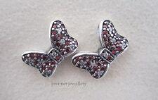 Authentic Genuine Pandora S/S Disney Minnie's Sparkling Bow Earrings 290578CZR