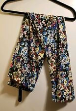 Leggings Floral Print. Navy background with Milti Colored Flowers NEW WITH TAGS
