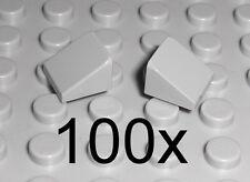 LEGO - 100x Dachstein 30 Grad 1x1x2/3 neu hellgrau - Slope Schrägstein 54200