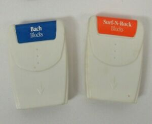 Neurosmith Music Blocks Cartridge Bach Surf N Rock Lot of 2 Musical Learning Toy