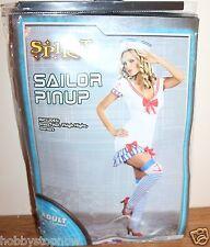 Spirit Sailor Pinup Girl Costume Women Size Medium 6-10 Brand New HS10