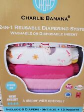 New ListingNew Charlie Banana Cloth Diapers 6 pack with 12 Inserts One Size