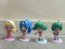 Lot 4 Figurines MACROSS FRONTIER (taille 10cm) BANPRESTO KYUN-CHARA Figures
