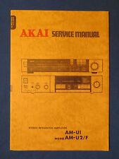 AKAI AM-UI AM-U2 INTEGRATED AMP SERVICE MANUAL ORIGINAL FACTORY ISSUE GOOD COND