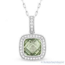 1.60ct 14k White Gold Diamond Hamsa Pendant Necklace