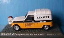 R4 F4 TOLE BREAK FOURGONNETTE 1981 RENAULT 4L SERVICE 1/43