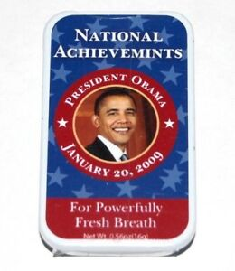 2009 BARACK OBAMA BREATH MINTS INAUGURATION campaign button pinback political