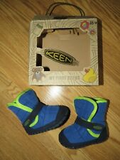 KEEN Shoes infant/ unisex size 12M HOOK & LOOP slippers CRIB ROVER macaw/ blue
