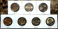 Canada 2004 - 2016 Complete BU UNC 7 Coin Olympic Lucky Loonie Set!!