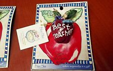Best teacher a pin by Heather Goldminc from the Clayworks collection by Blue Sk