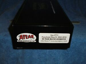 ATLAS MASTER GOLD  HO SCALE #7715 PRR TRAIN MASTER (PH 2) #8703  DCC EQUIPPED