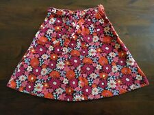 Jupe velours fleurs rose orange GAP KIDS 10 ans