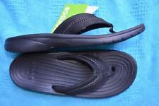 Crocs BLACK THONGS Yukon Mesa Genuine CrocsComfort Design RRP$69.99 Size M10 NEW