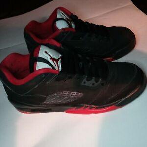 ➡️Nike Air Jordan 5 Retro V Low Black Gym Red 314338-001 Size 6.5Y♨️