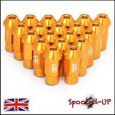 BLOX FORGED ALLOY WHEEL NUTS 52MM M12x1.5 fit MAZDA HONDA TOYOTA MITSUBISHI GOLD