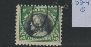 US Scott #524 Used Fine $2 Franklin: sound, sharp quality stamp, good cancel!