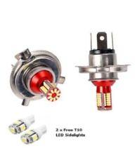H4 57 LED 6000K Pair Super White Xenon Upgrade Head light Bulbs Dip Main Beam