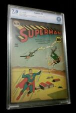 Superman 10 CBCS 7.0 F/VF OW/W DC 1941 1st Bald Lex Luthor Undervalued Key Issue