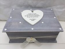 Shabby RUSTIC Chic Distressed LARGE Box Special Godmother personalised Gift
