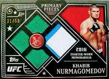 KHABIB NURMAGOMEDOV: 2016 Topps UFC Museum Collection Gold Quad Relic 31/50!