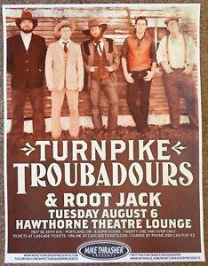 TURNPIKE TROUBADOURS 2013 Gig POSTER Portland Oregon Concert