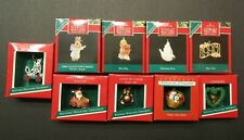 1988-1990 Hallmark Lot of 9 Vintage Miniature Ornaments– incl. Nature's Angel #1