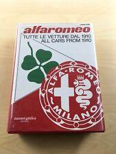 => Luigi Fusi - Alfa Romeo Tutte Le Vetture Dal 1910 Original Signed By Luigi F