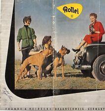 1954 ROLLEI CAMERA BROCHURE -ROLLEIFLEX AUTOMAT3.5-2.8C-ROLLEICORD IV