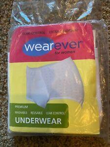 Wearever For Women Leak Control Underwear White Women's Size M