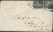 U.S., 1866. Cover 93 (2), Cleveland - St. Clairsville, Oh