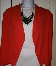 ORANGE WAIST LENGTH JACKET. SIZE 22/24W