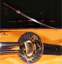 Handmade Full Tang KATANA Samurai Sword T10 Clay Tempered Sharp Battle Blade