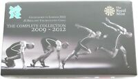 2012 Royal Mint London Olympic Games Countdown £5 Five Pound 4 Coin Box Only