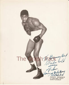 Danny Womber Signed Autograph 8x10 Boxing Photo RARE Defeated Boxer Kid Gavilan