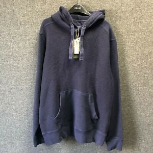 Fat Face Waffle Knit Hoodie Navy Blue Large TD110 FF 10