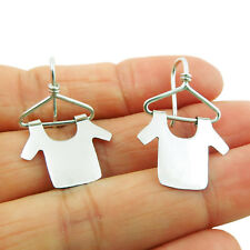 Sterling 925 Silver Mexican Frida Kahlo Hanger Earrings Gift Boxed