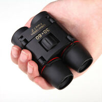 Portable Mini Binoculars 30x 60 Zoom Outdoor Travel Folding Telescope With Bag Y