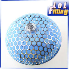 """3"""" (76mm) Turbo Cold Air Intake Supercharger Mushroom Style Filter Blue"""