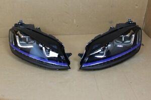 Original VW Golf GTE LED Headlamp Headlight Set 5GE941035 5GE941036 Complete