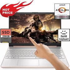 HP 15.6 LED TOUCHSCREEN Laptop 3.30GHz 8GB Ram 256GB SSD Drive HDMI Windows BT