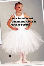 "NWT ROMANTIC BALLET SKIRT TUTU White small child sizes 3 layer  #4556 18"" long"