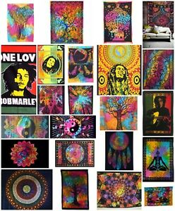 Multicoloured  LARGE Cotton Wall Hangings Tapestry Mandala Art Bed Cover Throw
