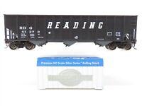HO Scale Bachmann Silver Series RDG Reading 3-Bay Hopper #41273 W/ Coal Load