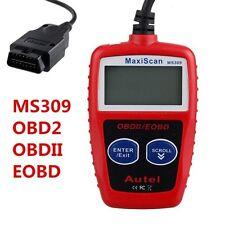 OBD II  TESTER TEST MAXISCAN SCANNER DIAGNOSI AUTO CENTRALINA OBD2 MS309 CAN