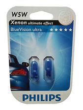 Philips 2 Stk W5W BlueVision 5 Watt 12 Volt 12961 Xenon effect Autolampe Leuchte