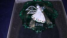Fenton 2008 Angel Light on Emerald Green Christmas Ornament New in Box #1714 Gc