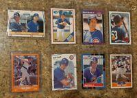 (8) Mark Grace 1988 1989 Score Donruss Fleer Topps Rookie Card Lot RC Cubs