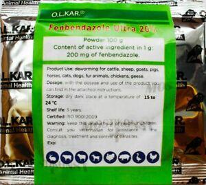 (100g) Fenbendazole Ultra 20 Dewormer Panacur Safe Guard for Dogs