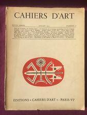 Cahiers d'art N°1 1952 année 27 Paalen Dessins Matisse Chagall Bram Van Velde